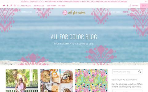 Screenshot of Blog allforcolor.com - Color Ave. - The All For Color Blog - captured Dec. 9, 2018