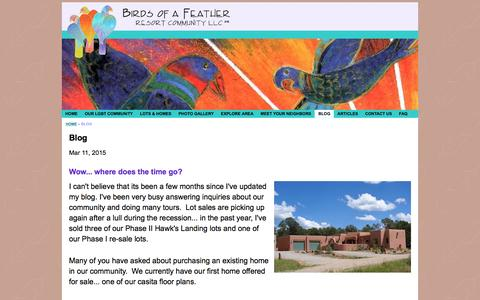 Screenshot of Blog birdsofafeather.com - Gay & Lesbian (LGBT) Community - Homes for sale - in New Mexico - captured Feb. 7, 2016