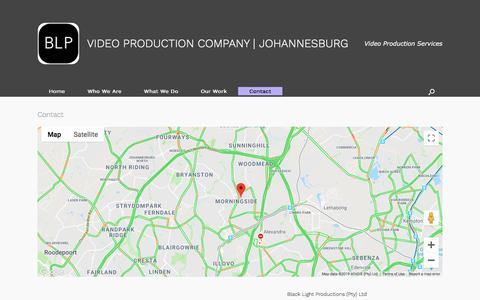 Screenshot of Contact Page blpcorporate.com - Contact us   Video Production Johannesburg   Free quote - captured July 20, 2019
