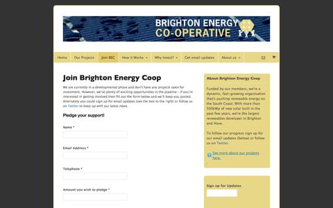 Screenshot of Signup Page brightonenergy.org.uk - Join Brighton Energy Coop - Brighton Energy Cooperative - captured Oct. 5, 2014