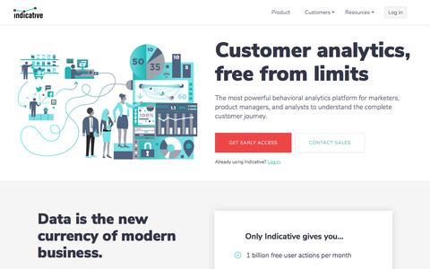 Indicative | Behavioral Analytics, Free From Limits