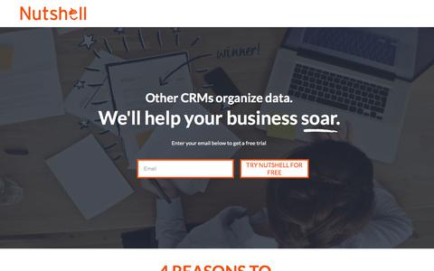 Screenshot of Landing Page nutshell.com - Nutshell | Small business CRM software for B2B sales teams - captured July 14, 2017