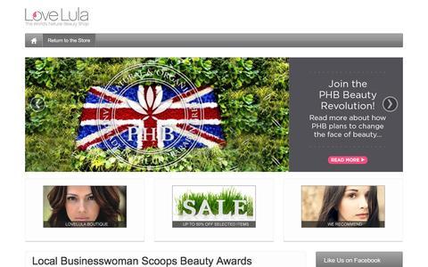 Screenshot of Blog lovelula.com - LoveLula Blog - LoveLula, the World's Natural Beauty Shop - captured Dec. 2, 2015