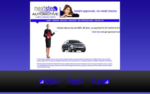 Screenshot of Home Page nextstepautomotive.com - Next Step Automotive - captured Oct. 9, 2014