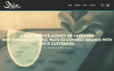 Screenshot of Home Page strivecreative.com - Strive Creative - captured Jan. 31, 2016