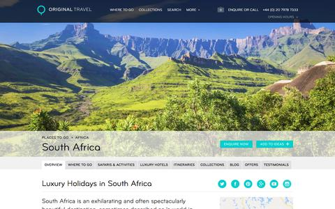Luxury Holidays South Africa | A World in One Country