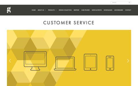 Screenshot of Support Page gof.co.uk - Customer Service – Gresham - captured Sept. 30, 2018
