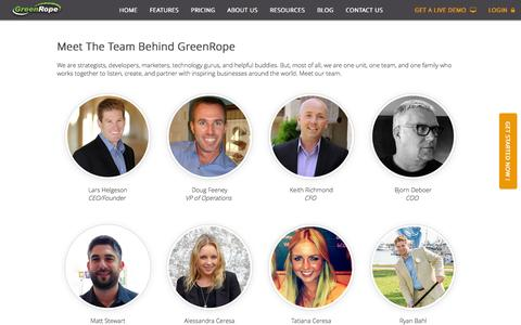 Screenshot of Team Page greenrope.com - Our Team By GreenRope - captured Oct. 14, 2015