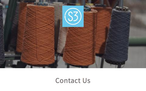 Screenshot of Contact Page s3source.com - Contact — Facilitating sustainability from fiber to fashion - captured Oct. 15, 2017