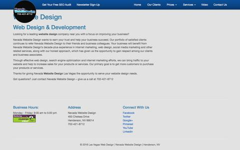 Website Design | Nevada Website Design Las Vegas NV | SEO