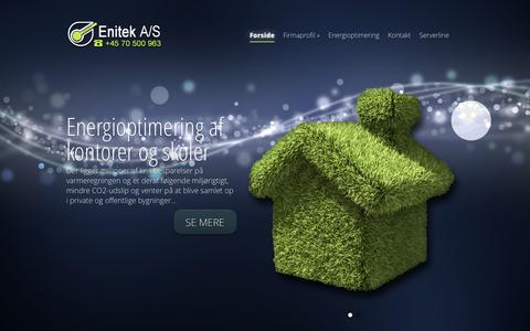 Screenshot of Home Page enitek.dk - Enitek A/S | CTS og Energioptimering - captured Oct. 2, 2014