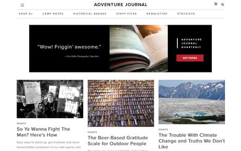 Essays Archives - adventure journal