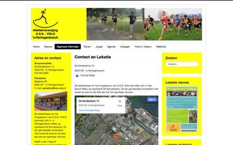 Screenshot of Contact Page oss-volo.nl - Contact en Lokatie - captured Oct. 26, 2014