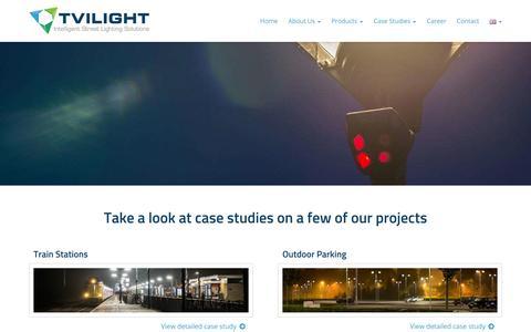 Screenshot of Case Studies Page tvilight.com - Case Studies - Tvilight - captured Oct. 6, 2014