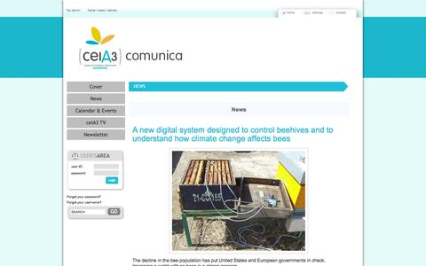 Screenshot of Press Page ceia3.es - News - captured Oct. 1, 2014