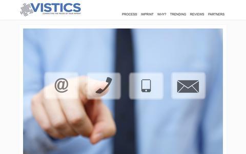 Screenshot of Contact Page vistics.com - CONTACT US | VISTICS - captured Nov. 30, 2016