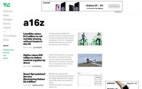 a16z | TechCrunch
