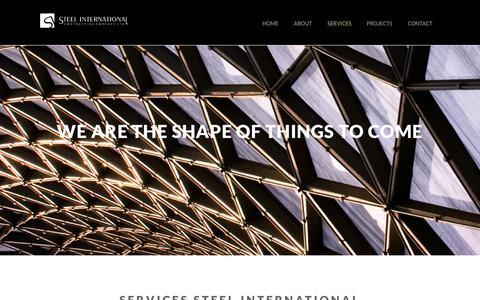 Screenshot of Services Page siccltd.com - Services Steel International | Steel International - captured Feb. 17, 2016