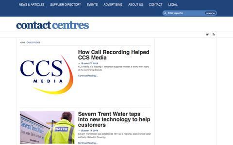Screenshot of Case Studies Page contact-centres.com - Case Studies Archives • Contact-Centres.comContact-Centres.com - captured Oct. 28, 2014