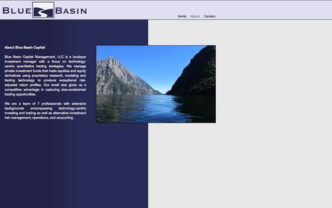 Screenshot of About Page bluebasin.net - Blue Basin Capital Management, LLC - captured Oct. 5, 2014