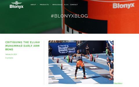 Screenshot of Blog blonyx.com - The Blonyx Blog - captured Feb. 7, 2016