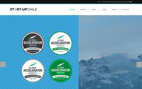 Screenshot of Home Page startupchile.org - Start-Up Chile | - captured Aug. 15, 2016