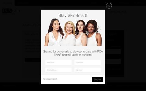 Screenshot of Login Page pcaskin.com - Customer Login - captured July 16, 2015