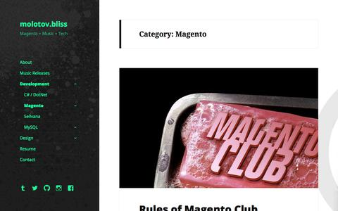 Screenshot of Developers Page molotovbliss.com - Magento - molotov.bliss - captured June 24, 2017