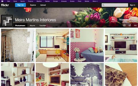 Screenshot of Flickr Page flickr.com - Flickr: Meira Martins Interiores' Photostream - captured Oct. 27, 2014