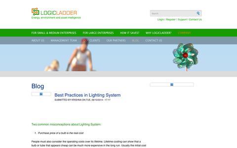 Screenshot of Blog logicladder.com - Blog | LogicLadder - captured Sept. 16, 2014