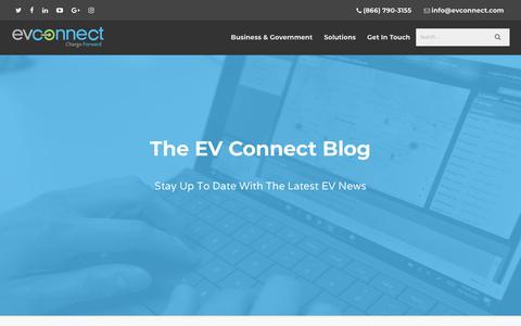 Screenshot of Blog evconnect.com - Blog - EV Connect - captured July 12, 2018
