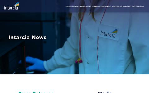 Screenshot of Press Page intarcia.com - Intarcia Therapeutics News - captured July 12, 2018