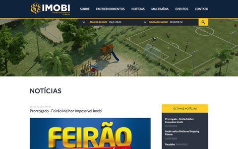 Screenshot of Home Page imobi.com.br - prorrogado-feirao-melhor-impossivel-imobi | Imobi - captured Oct. 7, 2015