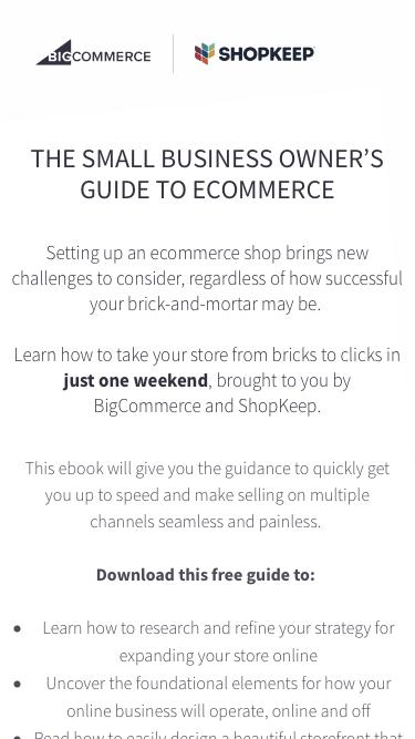ShopKeep Bricks to Clicks | The Small Business Owner's Guide to Ecommerce