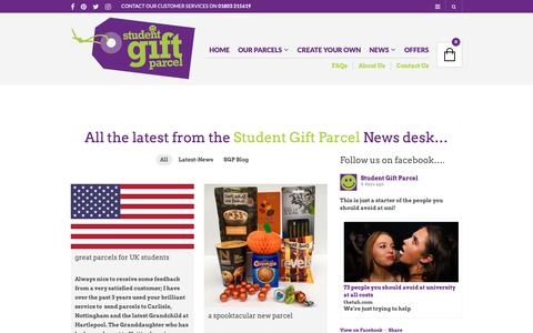 Screenshot of Press Page studentgiftparcel.co.uk - News - Student Gift Parcel - captured Oct. 20, 2018