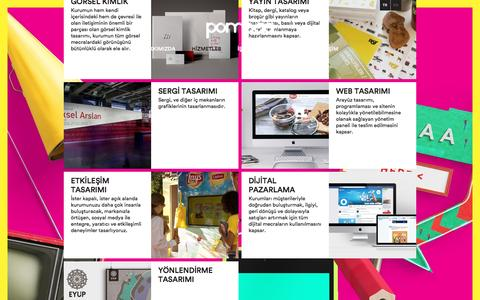 Screenshot of Services Page pompaa.com - POMPAA   Hizmetler - captured July 19, 2016