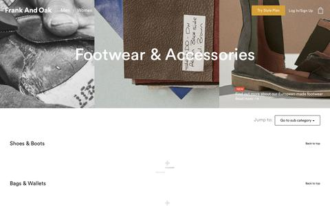 Footwear & Accessories | Frank And Oak