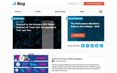 Screenshot of Blog adroll.com - AdRoll Retargeting & Online Marketing Blog - captured Nov. 5, 2015