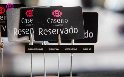 Screenshot of Services Page grupocaseiro.com - SERVIÇOS  |  Caseiro Grupo | Catering – Restaurantes – Eventos - captured Sept. 30, 2014