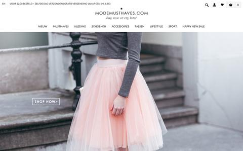 Screenshot of Home Page modemusthaves.com - Musthaves | Fashion & Lifestyle by ModeMusthaves - captured Feb. 20, 2016