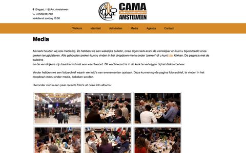Screenshot of Press Page cama-amstelveen.nl - Media — CAMA Amstelveen - captured July 6, 2017