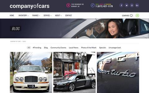 Screenshot of Blog companyofcars.com - Blog » Company of Cars - captured Aug. 18, 2017