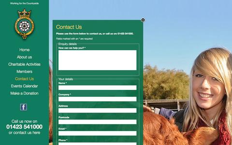 Screenshot of Contact Page yas.co.uk - Contact Us | Yorkshire Agricultural Society - captured Oct. 3, 2014