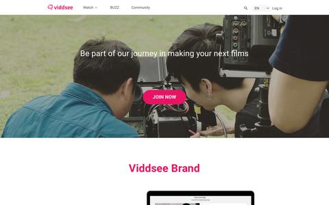 Screenshot of Signup Page viddsee.com - Join Our Film Network  | Viddsee - captured July 13, 2018