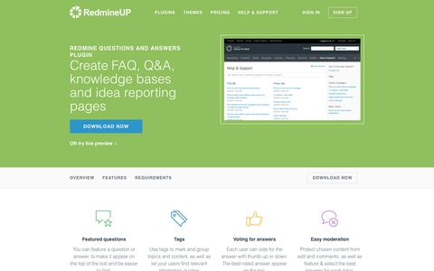 Screenshot of FAQ Page redmineup.com - Redmine Question and Answers Plugin from RedmineUP - captured June 24, 2017