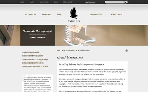 Screenshot of Team Page talonairjets.com - Private Jet | Aircraft Management - captured Sept. 22, 2014