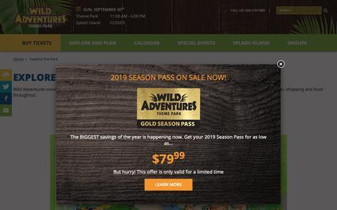 Screenshot of Maps & Directions Page wildadventures.com - Park Map | Wild Adventures Theme Park - captured Sept. 30, 2018