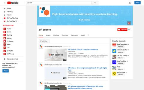 Sift Science  - YouTube