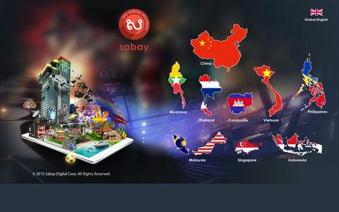 Screenshot of Home Page mysabay.com - MySabay - captured Sept. 16, 2015