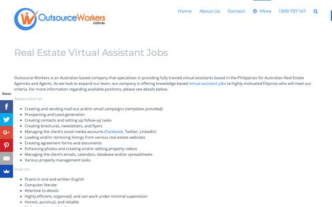 Screenshot of Jobs Page outsourceworkers.com.au - Virtual Assistant Jobs - We Are Expanding And Are HIRING NOW! - captured Dec. 16, 2018